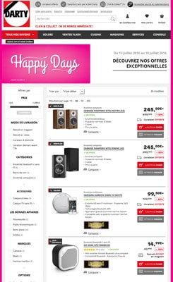 Vente Flash Soldes : Bons plans univers Son et Audio chez Darty.com