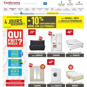 conforama codes r duction code reduction livraison gratuite brico priv. Black Bedroom Furniture Sets. Home Design Ideas