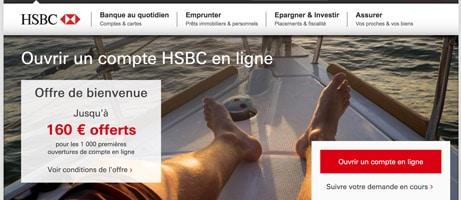 hsbc 160 € offerts