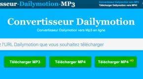 Dailymotion convertisseur vidéo en MP3 ou MP4 gratuitement en ligne