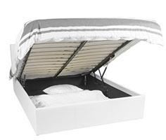 lit coffre blanc