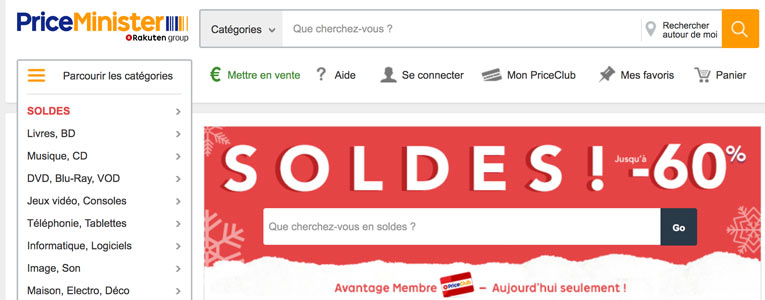 priceminister soldes