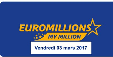 Euromillions et My Million du 3 mars 2017