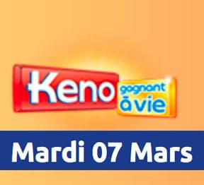 résultat keno 7 mars 2017