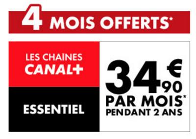 Vente flash promo 4 mois d 39 abonnement offerts sur les chaines canal plus - Vente flash c discount ...