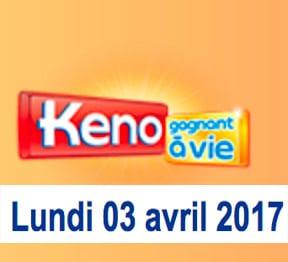 keno 3 avril 2017