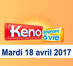 résultat keno 18 avril 2017