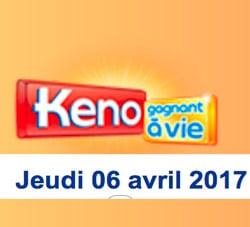 keno 6 avril 2017