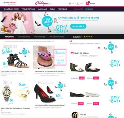 69affddee4ae1 Créé en 2007, Cendriyon.com est un site spécialisé dans la vente à distance  de vêtements et de chaussures pour femme pas chers. La boutique en ligne a  son ...