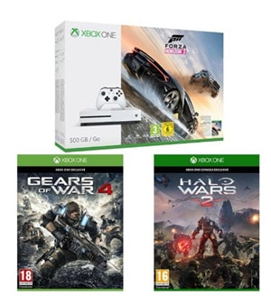 promo xbox one s 500 go pas cher avec forza gears of war. Black Bedroom Furniture Sets. Home Design Ideas