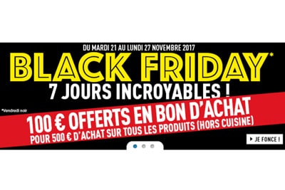 Black friday conforama promotion 2017