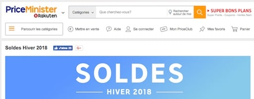 soldes priceminister 2018