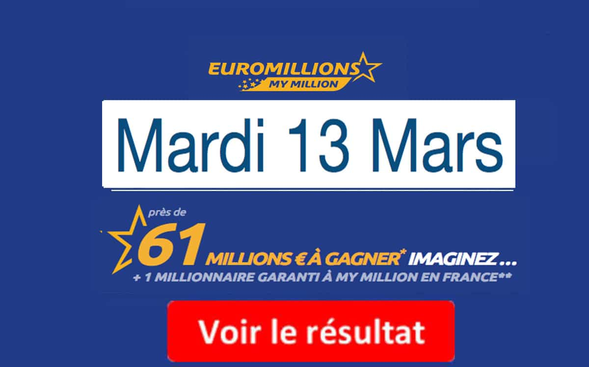 fdj résultats euromillions my million
