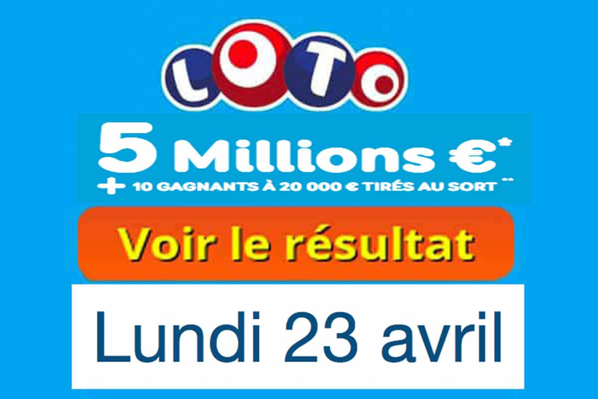 résultat loto 23 avril 2018