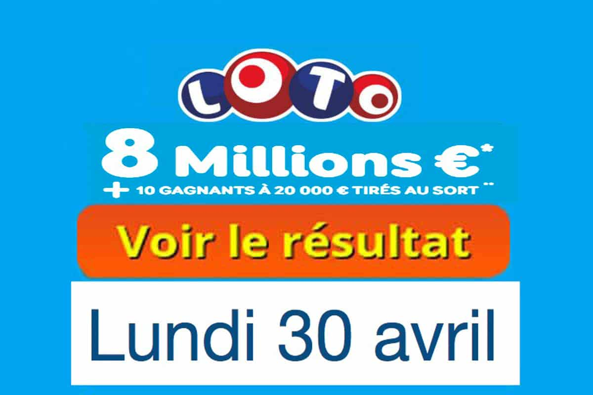 résultat loto 30 avril 2018