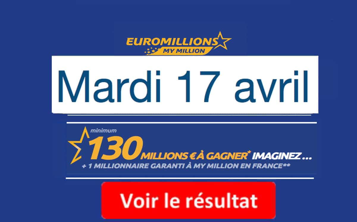 résultat euromillions mardi 17 avril 2018