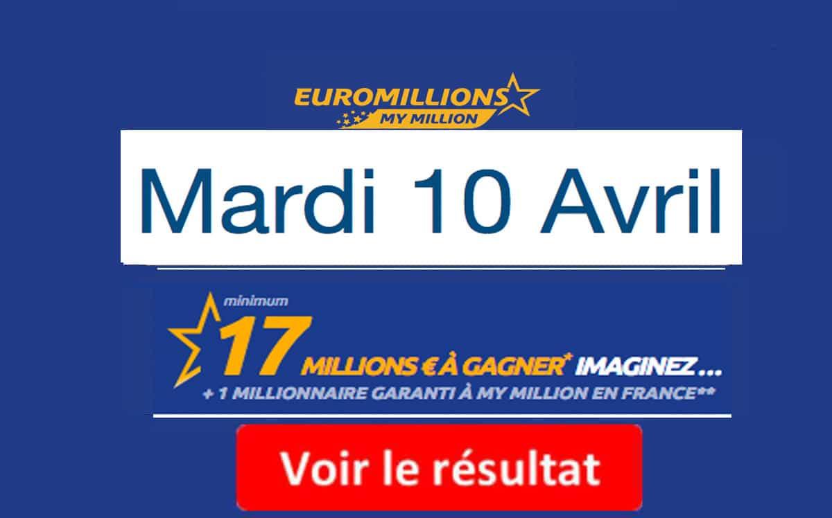 résultat euromillions mardi 10 avril 2018
