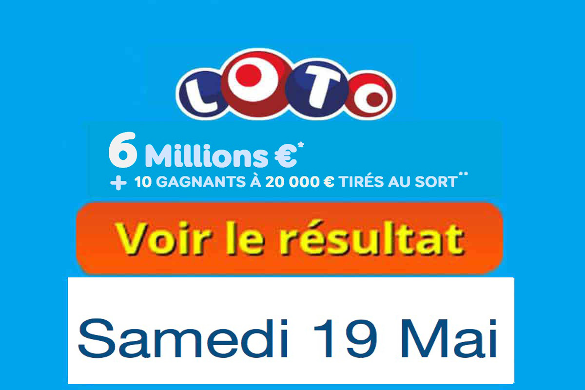 FDJ résultat loto 19 mai 2018