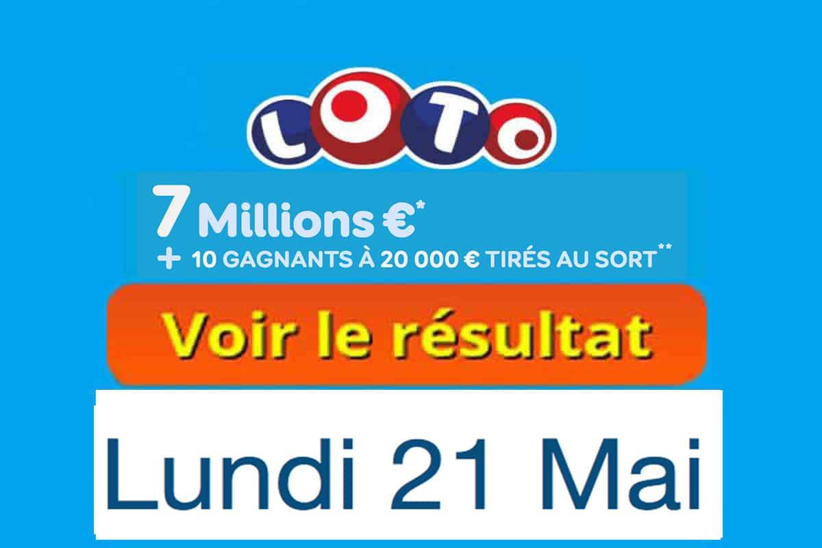 résultat loto 21 mai 2018