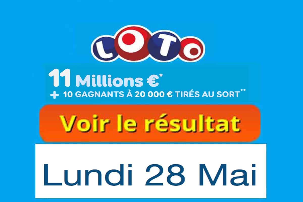 fdj résultat loto 28 mai 2018