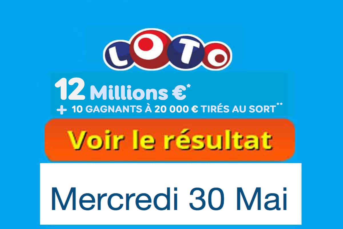 fdj résultat loto 30 mai 2018