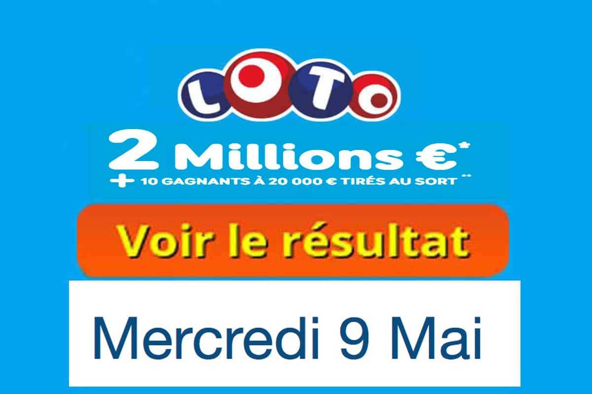 fdj résultat loto 9 mai 2018