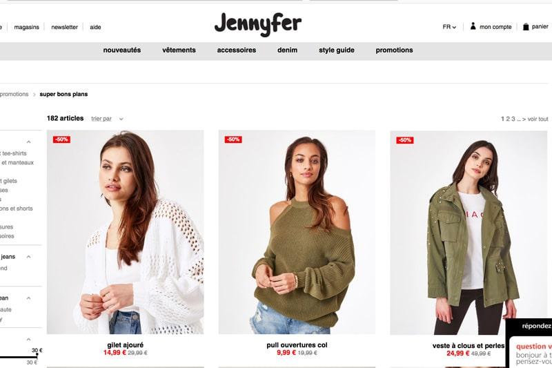 jennyfer code promo