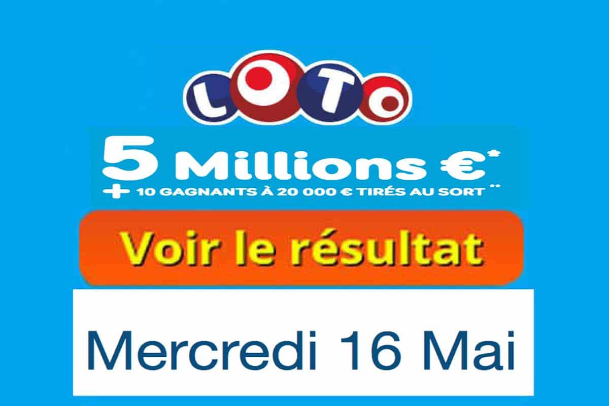 résultat loto 16 mai 2018