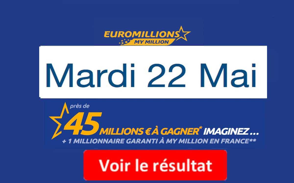 résultat euromillions mardi 22 mai 2018