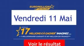 Résultat Euromillions et My Million (FDJ) Vendredi 11 Mai 2018 [En Ligne]