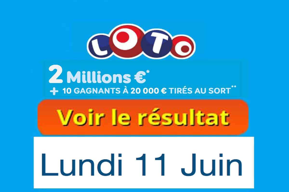 fdj résultat loto 11 juin 2018