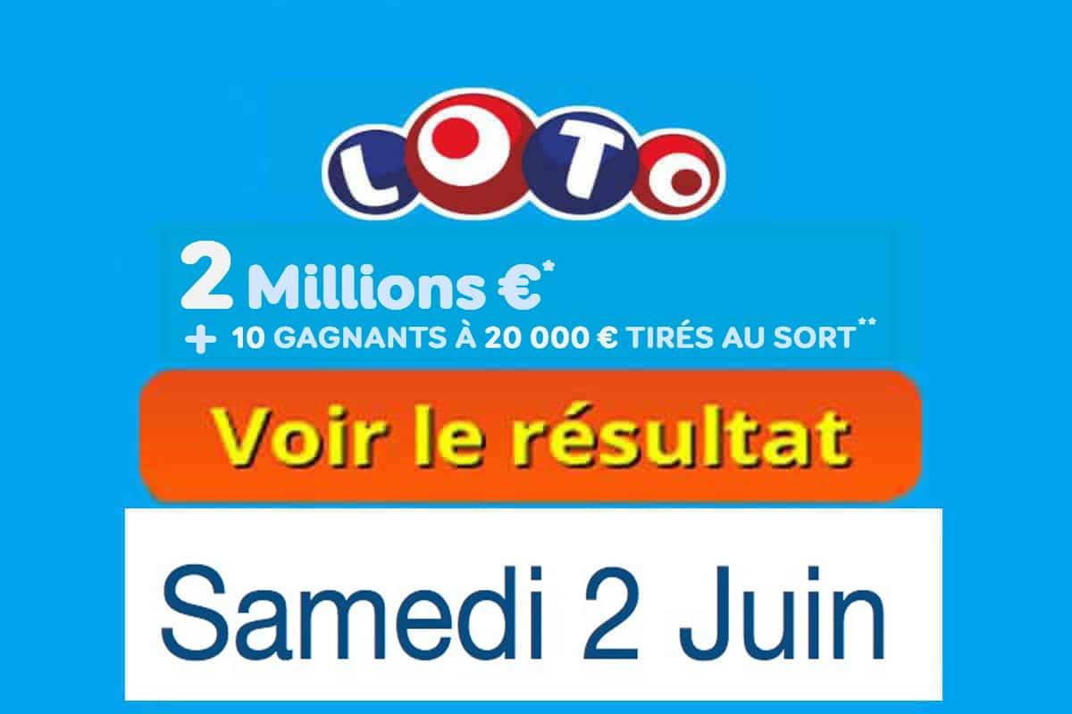 fdj resultat loto 2 juin 2018