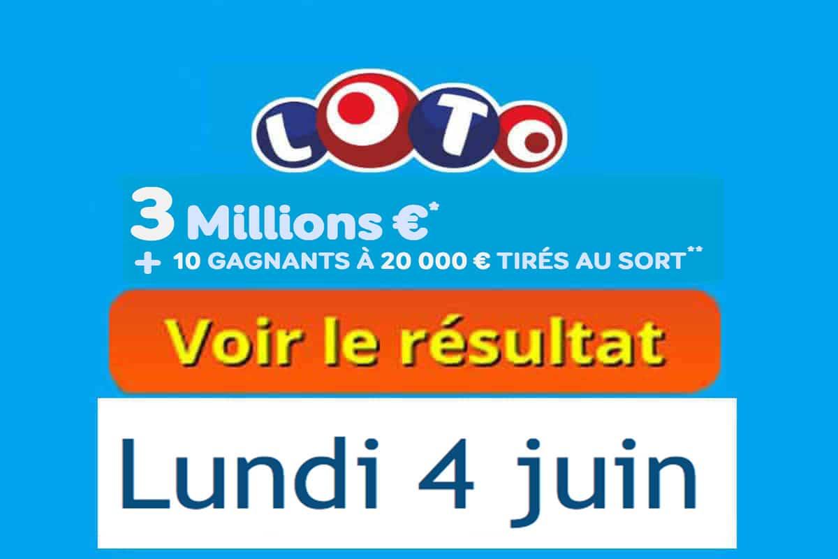 fdj résultat loto 4 juin 2018