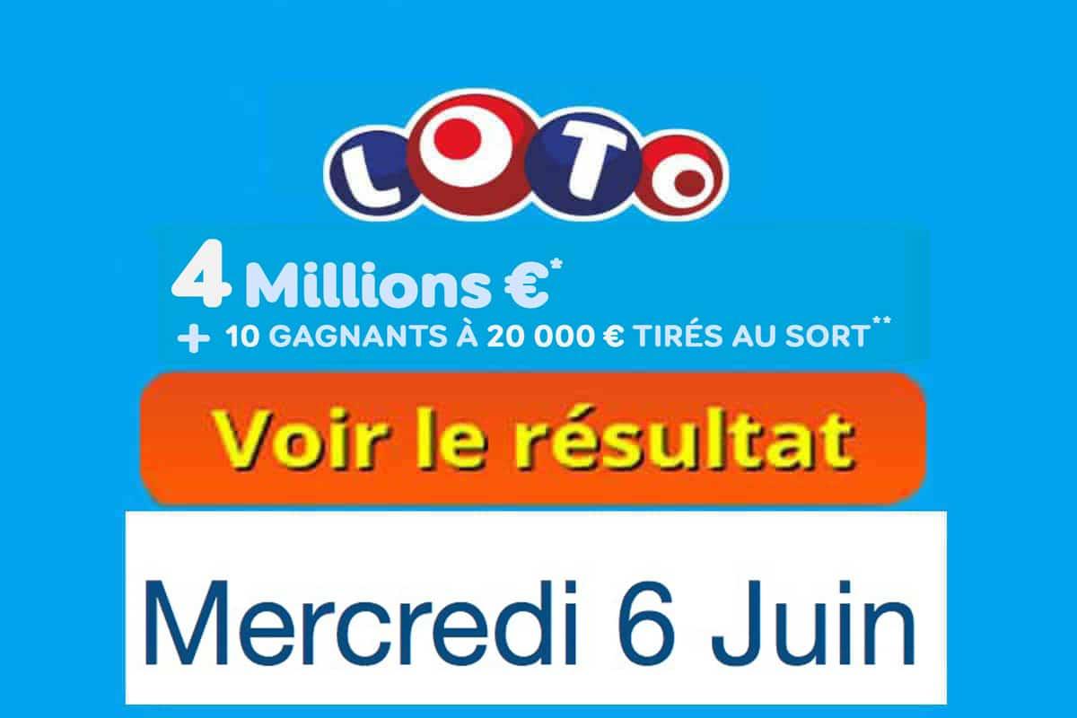 fdj résultat loto 6 juin 2018