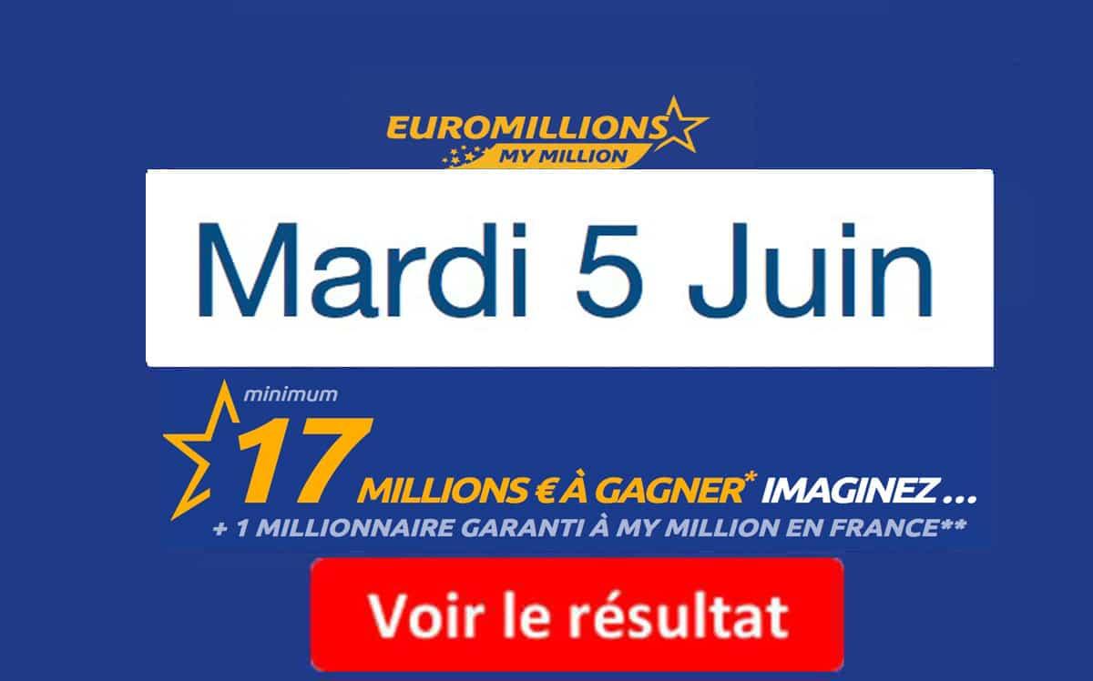 fdj résultat euromillions mardi 5 juin 2018