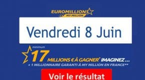 Résultat Euromillions, My Million (FDJ) vendredi 8 juin 2018 [En Ligne]