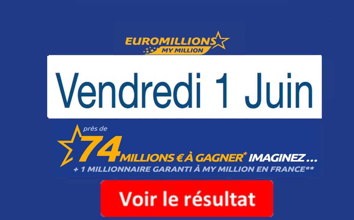 fdj résultat euromillions vendredi 1 juin 2018