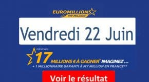 Résultat Euromillions, My Million (FDJ) tirage vendredi 22 Juin 2018 [En Ligne]