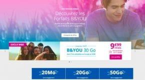 Forfait Bouygues B&YOU à 9.90€ par mois pour 30Go de data promo à ne pas rater