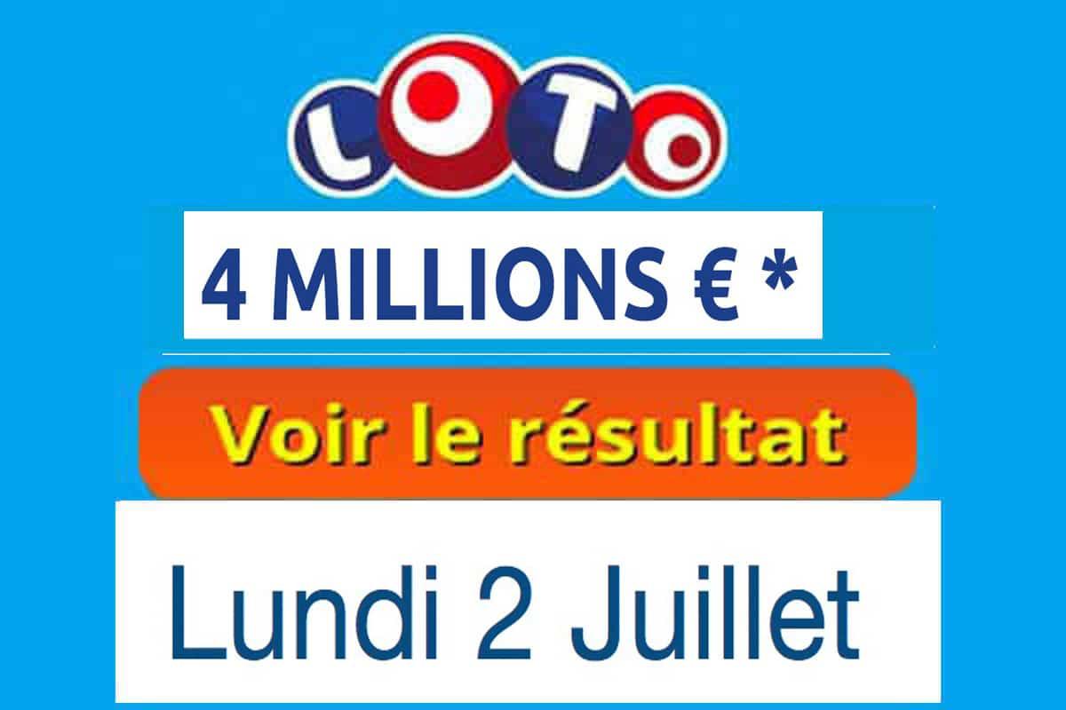 résultat loto 2 juillet 2018