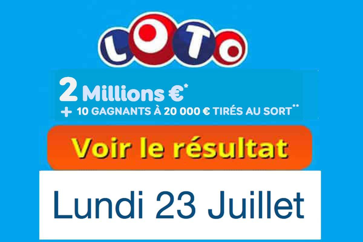 résultat loto 23 juillet 2018