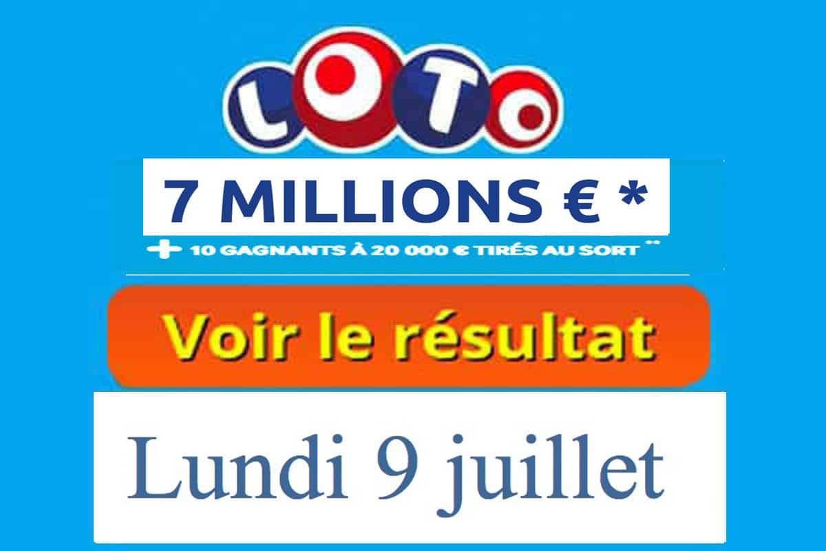 résultat loto 9 juillet 2018