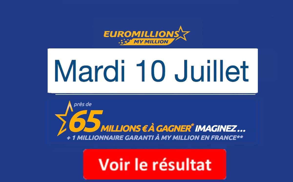 résultat euromillions 10 juillet 2018