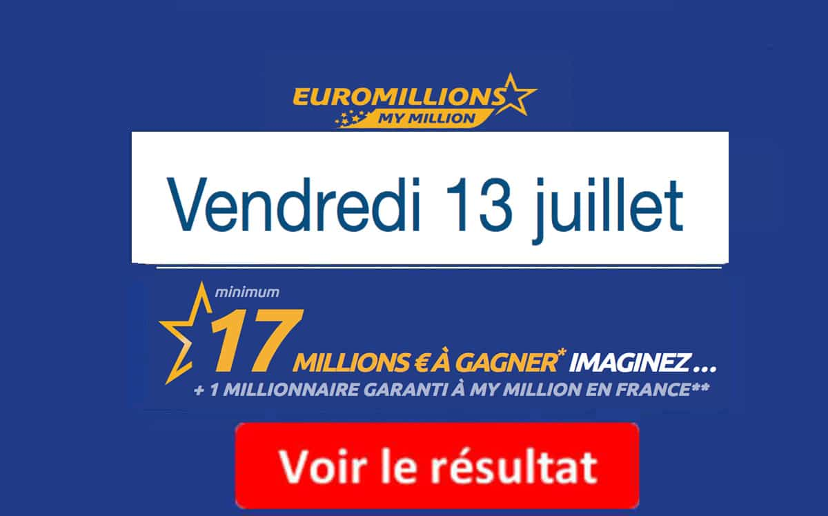 résultat euromillions vendredi 13 juillet 2018