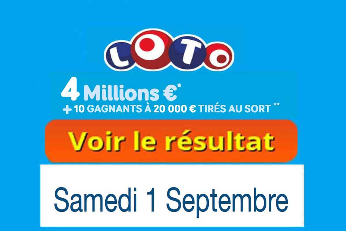 résultat loto 1er septembre 2018