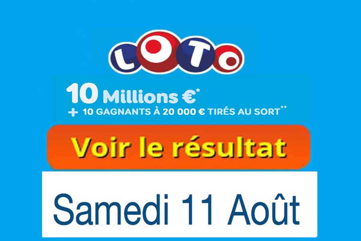 résultat loto 11 aout 2018
