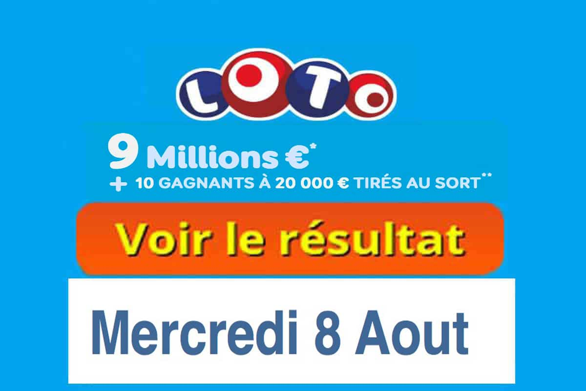 résultat loto 8 aout 2018