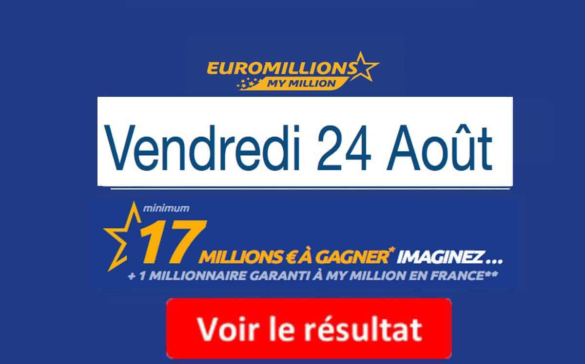 résultat euromillions 24 aout 2018