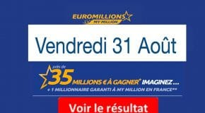 Résultat Euromillions et My Million (FDJ) Vendredi 31 Août 2018 [En Ligne]