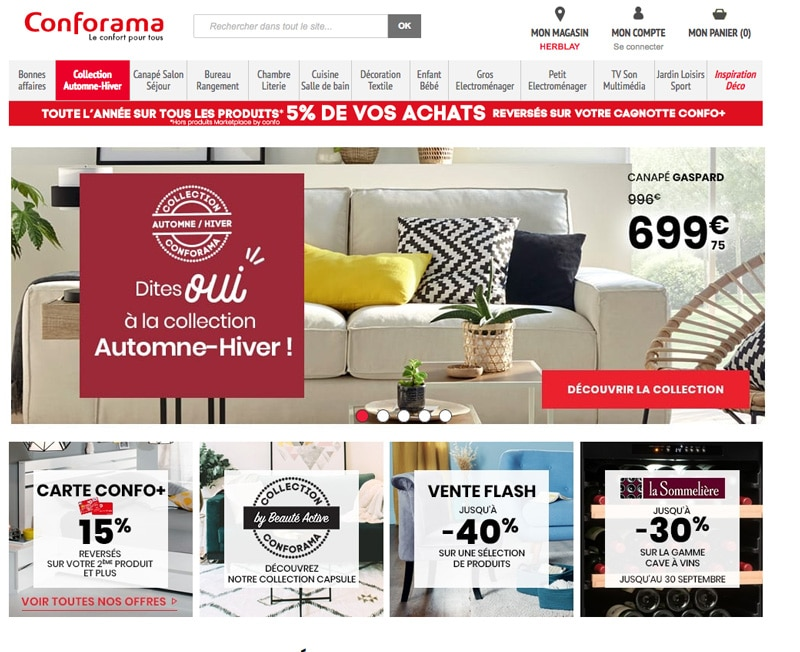 conforama vente flash et un code promo ne pas rater. Black Bedroom Furniture Sets. Home Design Ideas